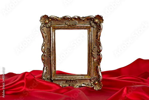 wooden frame and silk cover