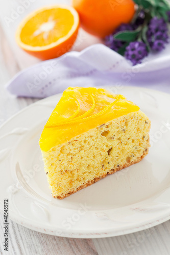 Orange and lavender cake