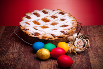 Italian Pastiera And Easter Eggs