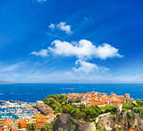 Fototapety panoramic view of Monaco with palace and harbor