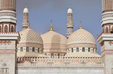 Domes of Al Saleh Mosque in Sanaa, Yemen