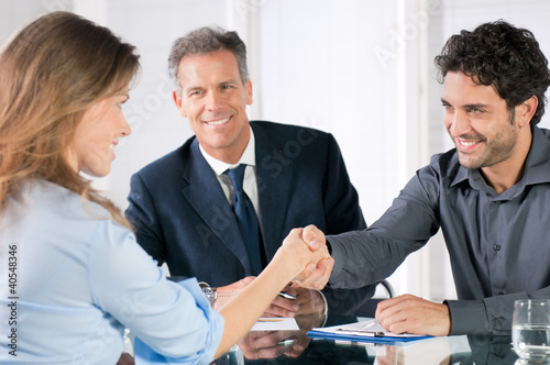 Successful business interview