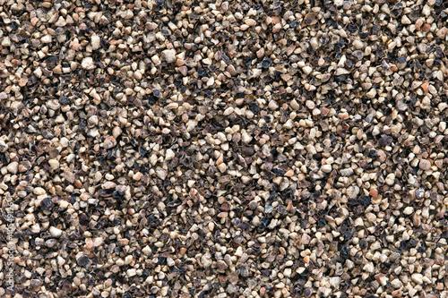 Crushed Black pepper (Piper nigrum) background.