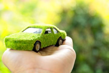 Eco car icon concept