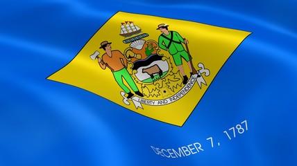 Delawarean flag in the wind