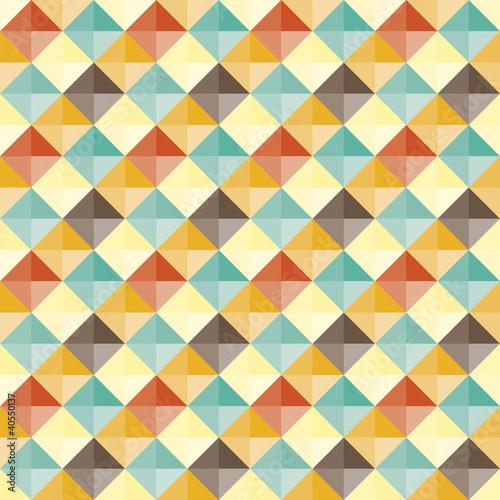 Abstract geometric pattern retro