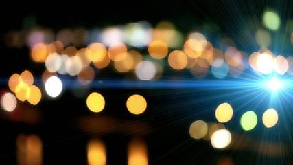 光の粒 イルミネーション青