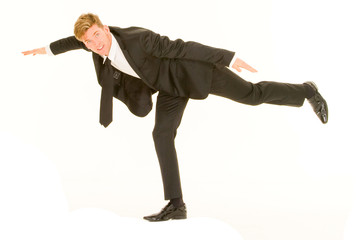 businessman in balance