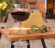 Picknick mit Wein und Käse