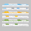Web site navigation elements with icons:Navigation menu bars