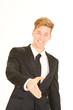 businessman extending his hand