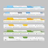 Fototapety Web site navigation elements with icons:Navigation menu bars