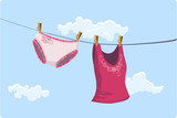 Girly clothes drying