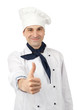 Smiling chef showing thumb up