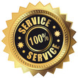 100% Service - Button gold
