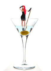 ragazza in un drink