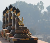 Golden Buddha statues in Nepal