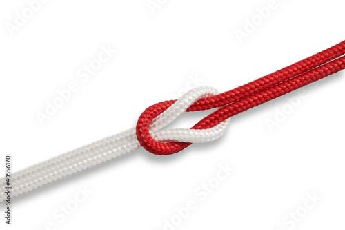 Nodo unione bianco e rosso