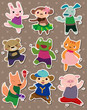 animal dance stickers