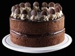 Two Layere Chocolate Cake; Black Background