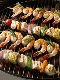 Chicken and Shrimp Kabobs on the Grill