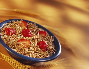 Bran Cereal with Strawberries