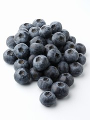 Fresh Blueberries on a White Background