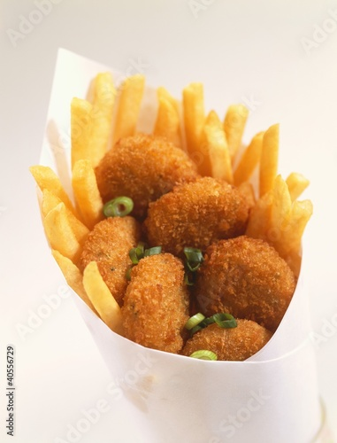 Fish and Chips in Paper Cone