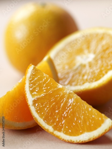 Orange Slices; Half and Orange; Whole Orange