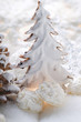 Gingerbread fir tree and coconut macaroons