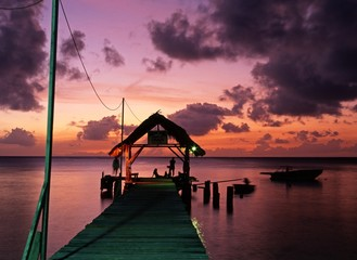 Pigeon Point at sunset, Tobago, Caribbean © Arena Photo UK