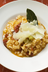 Risotto with Parmesan shavings