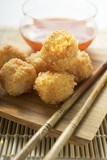 Breaded shrimp balls with sweet and sour sauce (Asia)