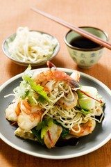 Bami Goreng with shrimps (Indonesia)