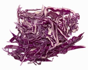 Red cabbage, shredded