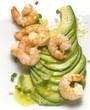 Avocado Fan with Shrimp