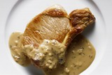 Pork Chop with Beer-Caraway Sauce