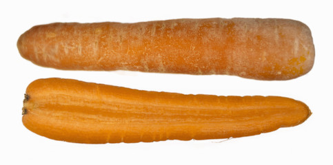 One whole and one half organic carrot