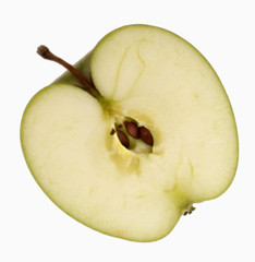Half a 'Granny Smith' apple