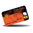 Colorful credit card