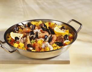 Paella in pan