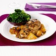 Lemon chicken with carrots and savoy cabbage