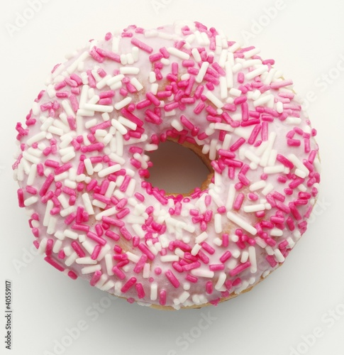 A doughnut with sprinkles