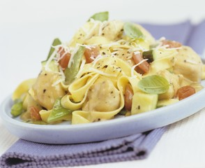 Chicken with tagliatelle