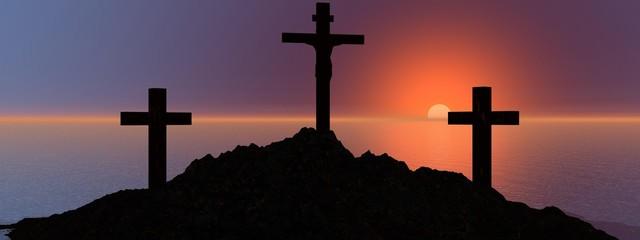 cross and mountain