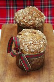 Mini-panettone with a bow