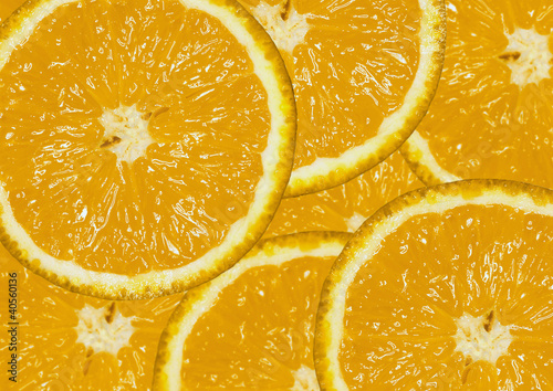 Orange slices, filling the picture