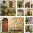 doorway collage, images from Tuscany, Italy