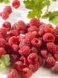 A heap of raspberries