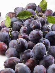 A heap of fresh plums
